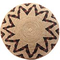 African Basket - Zulu Ilala Palm - Shallow Bowl - 15.25 Inches Across - #64429