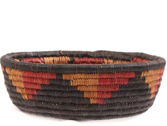 African Basket - Zulu Ilala Palm - Iqoma Bowl -  7.75 Inches Across - #64499
