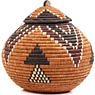 African Basket - Zulu Ilala Palm - Ukhamba -  9.75 Inches Tall - #64559