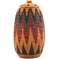 African Basket - Zulu Ilala Palm - Ukhamba - 15 Inches Tall - #64562