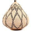 African Basket - Zulu Ilala Palm - Ukhamba - 12.5 Inches Tall - #70804