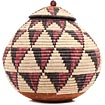 African Basket - Zulu Ilala Palm - Ukhamba - 12 Inches Tall - #70808