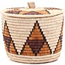 African Basket - Zulu Ilala Palm - Ukhamba Canister -  8.5 Inches Tall - #70811