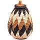 African Basket - Zulu Ilala Palm - Woven Herb Basket -  6.75 Inches Tall - #71516