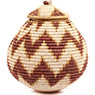 African Basket - Zulu Ilala Palm - Ukhamba - 10 Inches Tall - #73179