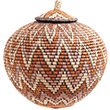 African Basket - Zulu Ilala Palm - Ukhamba - 12.5 Inches Tall - #73190