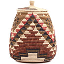 African Basket - Zulu Ilala Palm - Ukhamba - 17 Inches Tall - #73199
