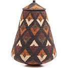 African Basket - Zulu Ilala Palm - Ukhamba - 17.5 Inches Tall - #73203