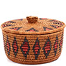 African Basket - Zulu Ilala Palm - Ukhamba Canister -  6 Inches Tall - #73209