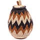 African Basket - Zulu Ilala Palm - Woven Herb Basket -  6.5 Inches Tall - #74315