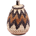 African Basket - Zulu Ilala Palm - Woven Herb Basket -  5.75 Inches Tall - #74316
