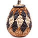 African Basket - Zulu Ilala Palm - Woven Herb Basket -  6 Inches Tall - #74317