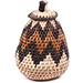 African Basket - Zulu Ilala Palm - Woven Herb Basket -  5.75 Inches Tall - #74318
