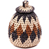 African Basket - Zulu Ilala Palm - Woven Herb Basket -  5 Inches Tall - #74323