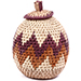 African Basket - Zulu Ilala Palm - Woven Herb Basket -  5.75 Inches Tall - #74325