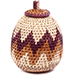African Basket - Zulu Ilala Palm - Woven Herb Basket -  5.5 Inches Tall - #74326
