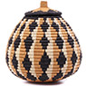 African Basket - Zulu Ilala Palm - Ukhamba - 10 Inches Tall - #75374