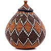 African Basket - Zulu Ilala Palm - Ukhamba - 10.5 Inches Tall - #75375