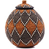 African Basket - Zulu Ilala Palm - Ukhamba - 10.5 Inches Tall - #75376