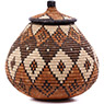 African Basket - Zulu Ilala Palm - Ukhamba - 10 Inches Tall - #75377