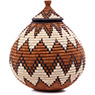 African Basket - Zulu Ilala Palm - Ukhamba - 10.5 Inches Tall - #75378