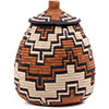 African Basket - Zulu Ilala Palm - Ukhamba - 11 Inches Tall - #75379