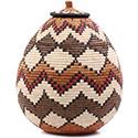 African Basket - Zulu Ilala Palm - Ukhamba - 16 Inches Tall - #75381
