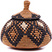 African Basket - Zulu Ilala Palm - Ukhamba -  5 Inches Tall - #75401