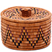African Basket - Zulu Ilala Palm - Ukhamba Canister -  3.75 Inches Tall - #75408