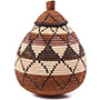 African Basket - Zulu Ilala Palm - Ukhamba -  8.5 Inches Tall - #75410