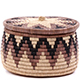 African Basket - Zulu Ilala Palm - Ukhamba Canister -  4.5 Inches Tall - #75412