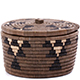 African Basket - Zulu Ilala Palm - Ukhamba Canister -  4.5 Inches Tall - #75413