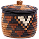 African Basket - Zulu Ilala Palm - Ukhamba Canister -  6 Inches Tall - #75415