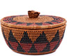 African Basket - Zulu Ilala Palm - Ukhamba Canister -  5.5 Inches Tall - #75417