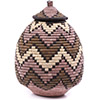 African Basket - Zulu Ilala Palm - Ukhamba - 11 Inches Tall - #75432