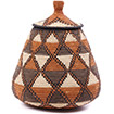 African Basket - Zulu Ilala Palm - Ukhamba - 11.5 Inches Tall - #75436