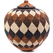 African Basket - Zulu Ilala Palm - Ukhamba - 12.25 Inches Tall - #75437