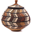 African Basket - Zulu Ilala Palm - Ukhamba - 12.25 Inches Tall - #75442