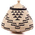 African Basket - Zulu Ilala Palm - Ukhamba - 15 Inches Tall - #75457