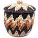 African Basket - Zulu Ilala Palm - Lidded Herb Canister -  6 Inches Tall - #75934
