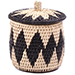 African Basket - Zulu Ilala Palm - Lidded Herb Canister -  5 Inches Tall - #75941