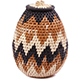 African Basket - Zulu Ilala Palm - Woven Herb Basket -  7 Inches Tall - #75945