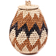 African Basket - Zulu Ilala Palm - Woven Herb Basket -  7 Inches Tall - #75947
