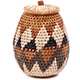 African Basket - Zulu Ilala Palm - Woven Herb Basket -  6.5 Inches Tall - #75948