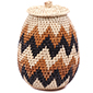 African Basket - Zulu Ilala Palm - Woven Herb Basket -  7.5 Inches Tall - #75949
