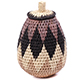 African Basket - Zulu Ilala Palm - Woven Herb Basket -  6.25 Inches Tall - #75951