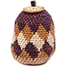African Basket - Zulu Ilala Palm - Woven Herb Basket -  5.25 Inches Tall - #75952