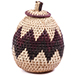 African Basket - Zulu Ilala Palm - Woven Herb Basket -  6 Inches Tall - #75953