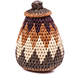 African Basket - Zulu Ilala Palm - Woven Herb Basket -  5.25 Inches Tall - #75954