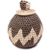 African Basket - Zulu Ilala Palm - Woven Herb Basket -  5 Inches Tall - #75956